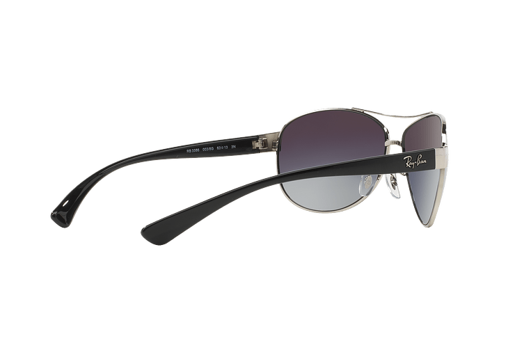Ray Ban Aviador Ovalado RB3386 Silver lente Grey Gradient cod. RB3386 003/8G 63 - Image 8