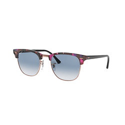 Ray Ban Clubmaster Spotted Grey/Violet lente Gradient Blue cod. RB3016 12573F 49