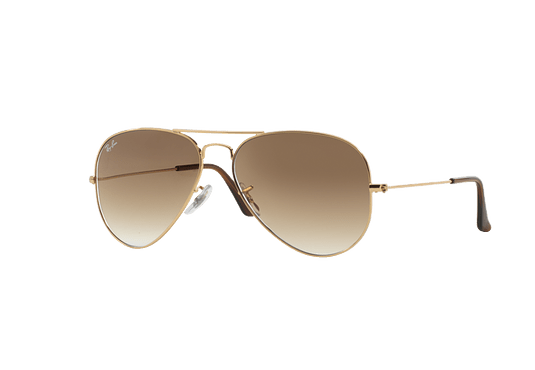 Ray Ban Aviador Gold lente Crystal Brown Gradient cod. RB3025 001/51 62