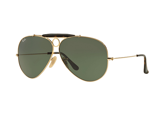 Ray Ban Shooter RB3138 Gold lente Crystal Green cod. RB3138 181 62