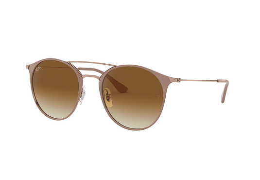 Ray Ban Round RB3546 Copper Top On Beige lente Clear Gradient Brown cod. RB3546 907151 52