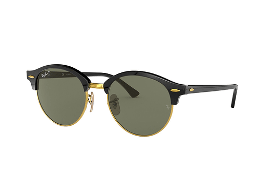 Ray Ban Clubround Black lente Green Polarized cod. RB4246 901/58 51
