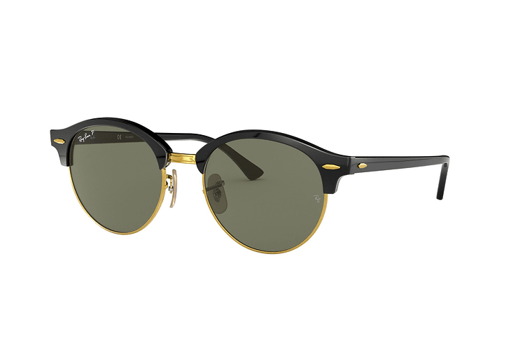 fad29eb0cbb Ray Ban Clubround Black lente Green Polarized cod. RB4246 901 58 51 - Image