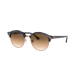 Ray Ban Clubround Spotted Brown/Blue lente Clear Gradient Brown cod. RB4246 125651 51