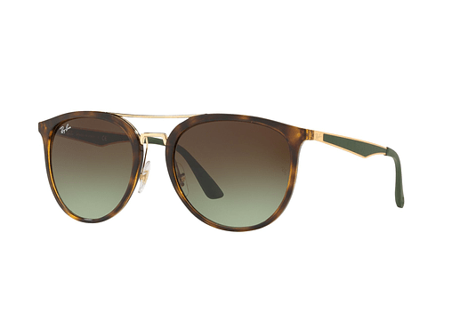 Ray Ban Round RB4285 Havana lente Green Gradient Brown cod. RB4285 6372E8 55