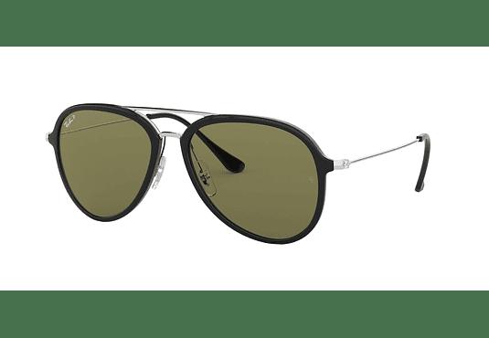 Ray Ban Aviador RB4298 Black lente Green Polarized cod. RB4298 601/9A 57