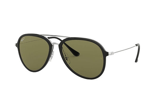 Ray Ban Aviador RB4298 Black lente Green Polarized cod. RB4298 601/9A 57
