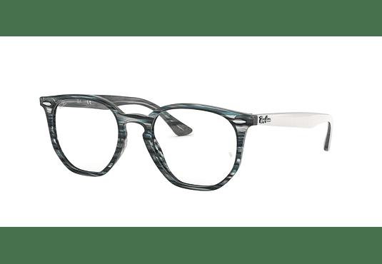 Armazón óptico Ray Ban Hexagonal RX7151 Blue/Grey Stripped cod. RX7151 5801 50