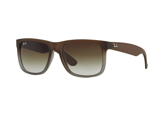 Ray Ban Justin Rubber brown on grey lente Green Gradient cod. RB4165 854/7Z 54