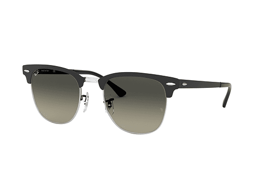 Ray Ban Clubmaster Metal Silve/Matte Black lente Dark Grey Gradient cod. RB3716 911871 51