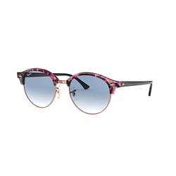 Ray-Ban Clubround Spotted Grey/Violet lente Gradient Blue cod. RB4246 12573F 51