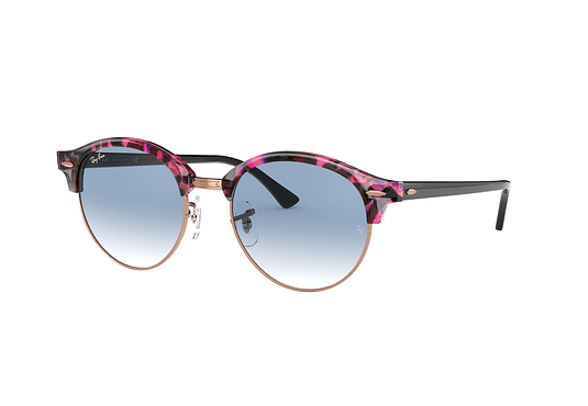 Ray Ban Clubround Spotted Grey/Violet lente Gradient Blue cod. RB4246 12573F 51