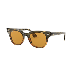 Ray Ban Meteor Green Brown Stripped lente Yellow/Gold Mirror cod. RB2168 12683L 50