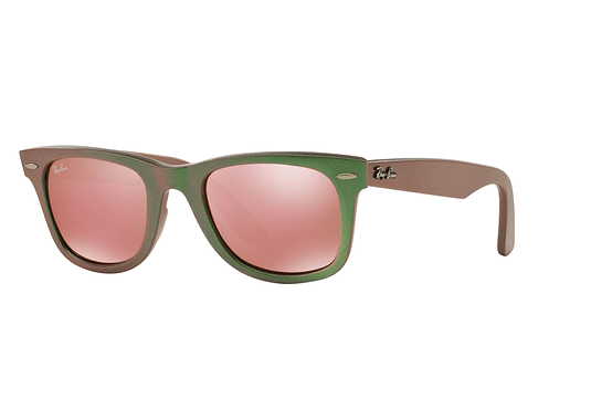 Ray Ban Wayfarer Metallic green lente Light brown mirror pink cod. RB2140 6109Z2 50