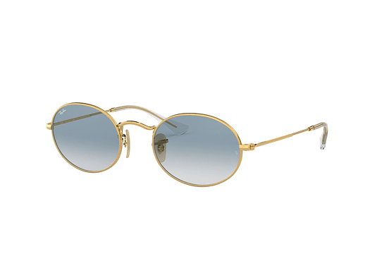 Ray Ban Oval Gold lente Gradient Blue cod. RB3547N 001/3F 54