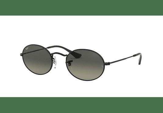 Ray Ban Oval Black lente Gray Green cod. RB3547N 002/71 54