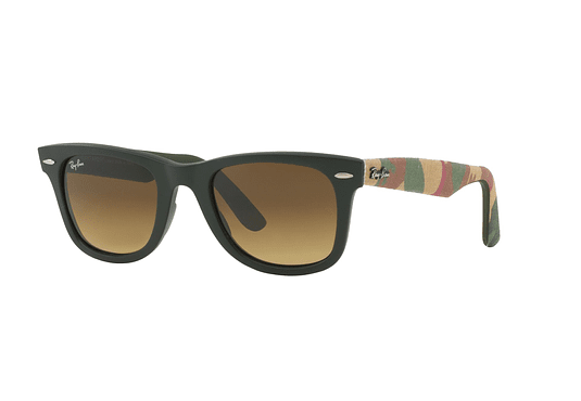 Ray Ban Wayfarer Matte Military Green lente Dark Brown Gradient cod. RB2140 606285 50