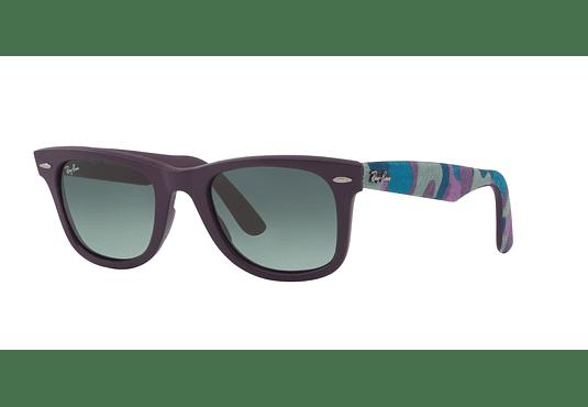 Ray Ban Wayfarer Matte Violet lente Grey/Blue gradient cod. RB2140 606471 50