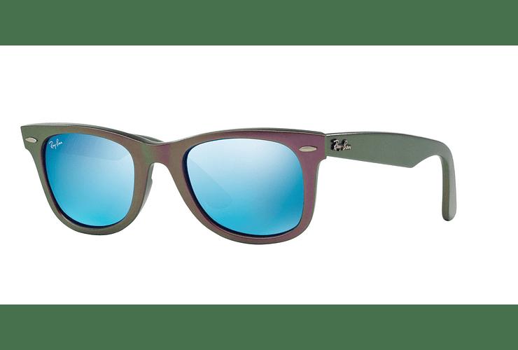 Ray Ban Wayfarer Metallic Violet lente Blue Mirror cod. RB2140 611217 50 - Image 1