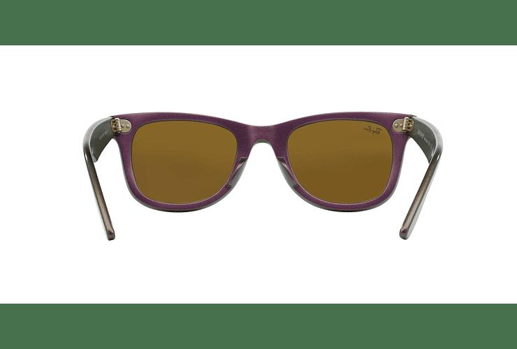 Ray Ban Wayfarer Metallic Violet lente Blue Mirror cod. RB2140 611217 50 - Image 6