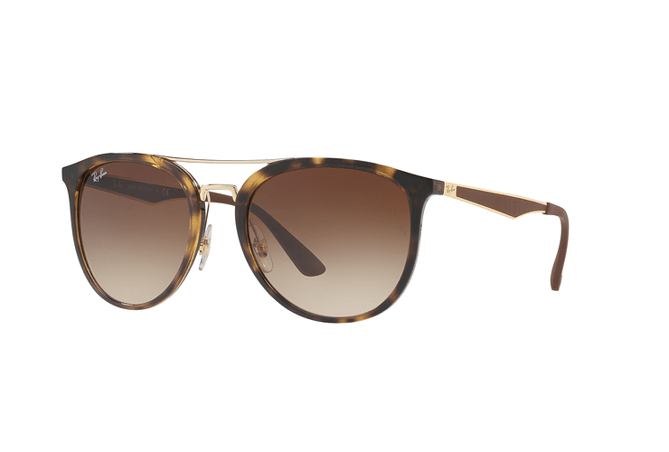 Ray Ban Round RB4285 Light Havana lente Brown Gradient cod. RB4285 710/13 55 - Image 1