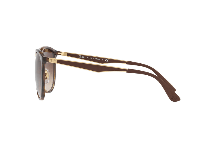 Ray Ban Round RB4285 Light Havana lente Brown Gradient cod. RB4285 710/13 55 - Image 3