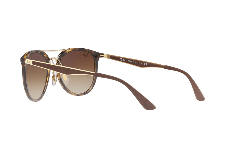 Ray Ban Round RB4285 Light Havana lente Brown Gradient cod. RB4285 710/13 55 - Image 4