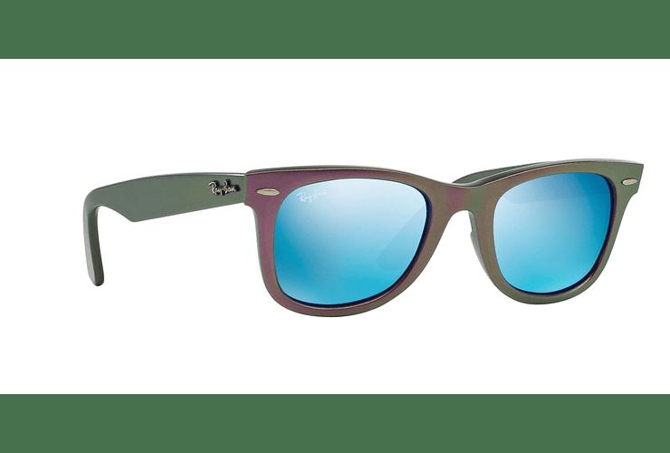 Ray Ban Wayfarer Metallic Violet lente Blue Mirror cod. RB2140 611217 50 - Image 11