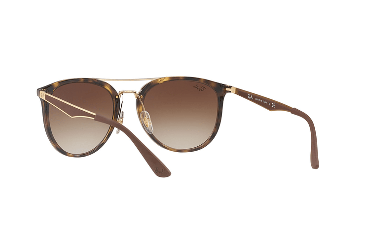 Ray Ban Round RB4285 Light Havana lente Brown Gradient cod. RB4285 710/13 55 - Image 5