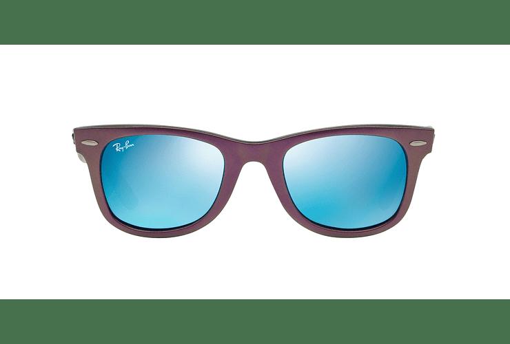 Ray Ban Wayfarer Metallic Violet lente Blue Mirror cod. RB2140 611217 50 - Image 12
