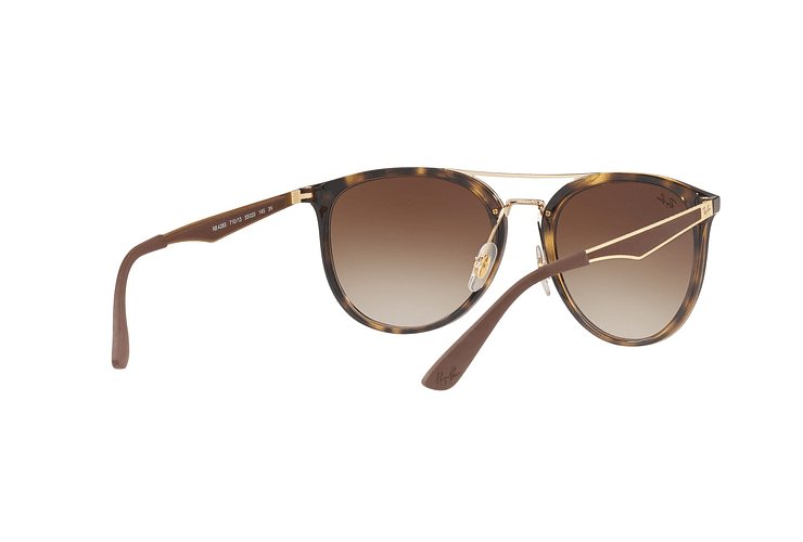 Ray Ban Round RB4285 Light Havana lente Brown Gradient cod. RB4285 710/13 55 - Image 7