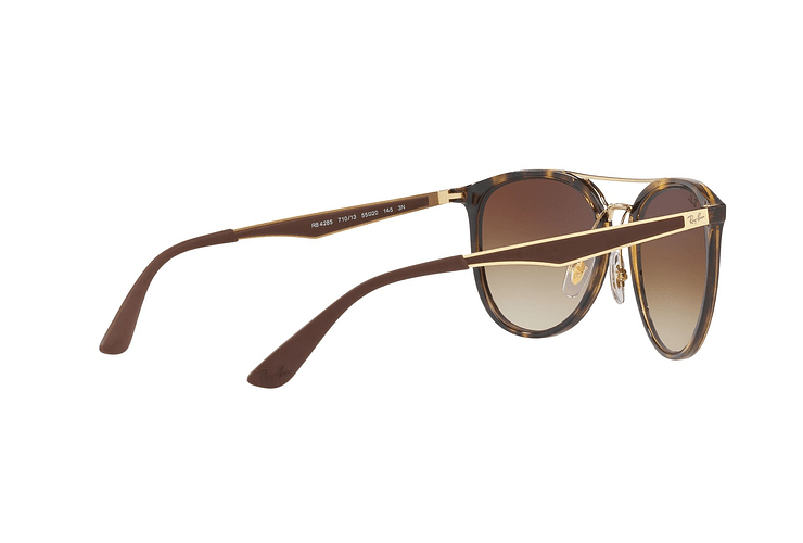 Ray Ban Round RB4285 Light Havana lente Brown Gradient cod. RB4285 710/13 55 - Image 8