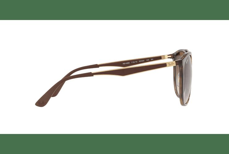 Ray Ban Round RB4285 Light Havana lente Brown Gradient cod. RB4285 710/13 55 - Image 9