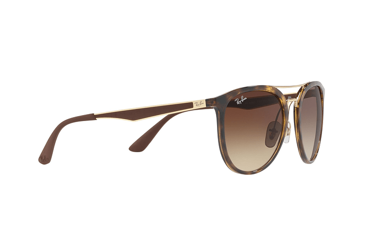 Ray Ban Round RB4285 Light Havana lente Brown Gradient cod. RB4285 710/13 55 - Image 10