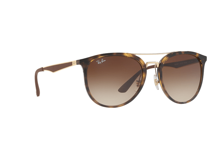 Ray Ban Round RB4285 Light Havana lente Brown Gradient cod. RB4285 710/13 55 - Image 11