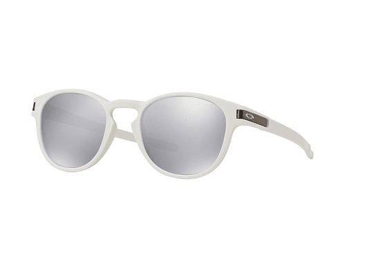 Oakley Latch Matte White lente Chrome Iridium cod. OO9265-1653