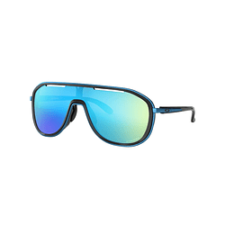 Oakley Outpace Polished Black/Sapphire lente Sapphire PRIZM cod. OO4133-0326