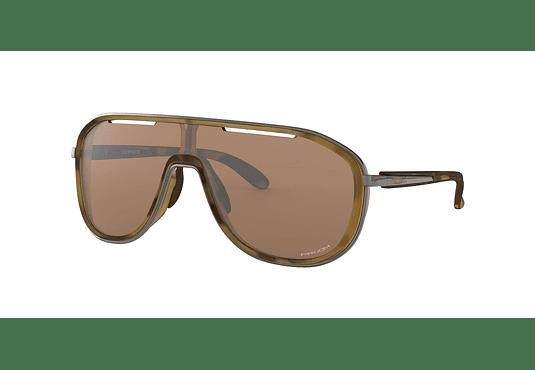 Oakley Outpace Matte Brown Tortoise lente Tungsten PRIZM cod. OO4133-0426