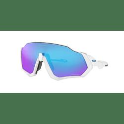 Oakley Flight Jacket Matte White lente Sapphire PRIZM cod. OO9401-0237