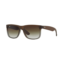 Ray Ban Justin Rubber brown on grey lente Green Gradient cod. RB4165 854/7Z 51