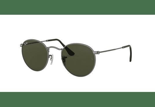 Ray Ban Round Metal Matte Gunmetal lente Crystal Green cod. RB3447 029 50