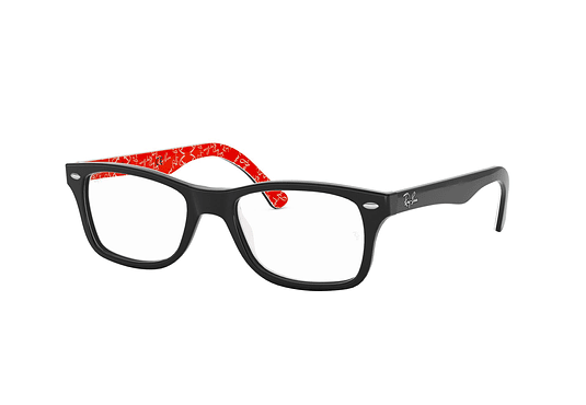 Armazón óptico Ray Ban RX5228 Top Black on Texture Red cod. RX5228 2479 53