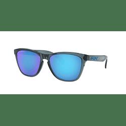 Oakley Frogskins Crystal Black lente Sapphire Prizm y Polarized cod. OO9013-F655