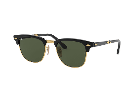 Ray Ban Clubmaster Plegable Black lente Crystal Green cod. RB2176 901 51