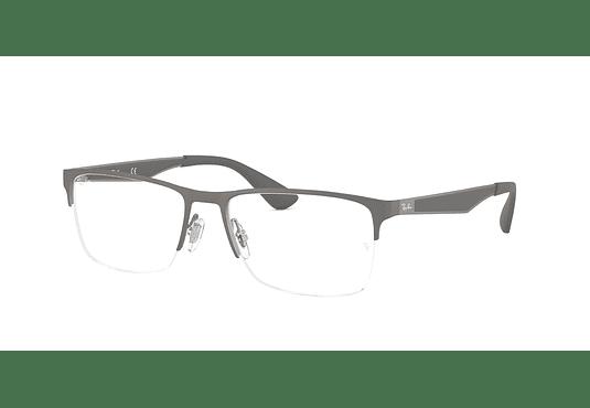 Armazón óptico Ray Ban Metal RX6335 Matte Gunmetal cod. RX6335 2855 54