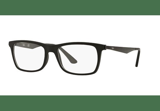 Armazón óptico Ray Ban Square RX7062 Matte Black cod. RX7062 2077 55