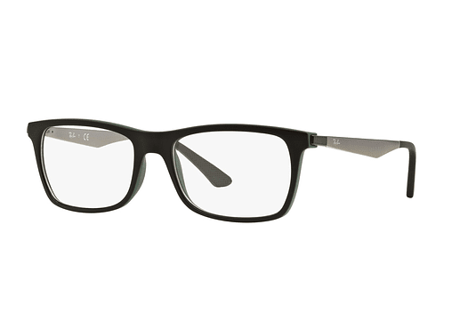 Armazón óptico Ray Ban Square RX7062 Black/Green cod. RX7062 5197 55