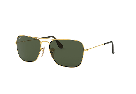 Ray Ban Caravan Gold lente Dark Green cod. RB3136 181 58