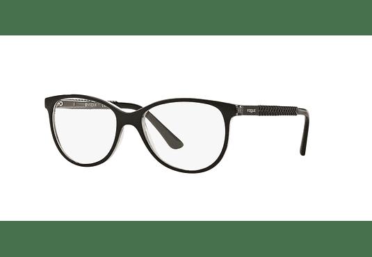 Armazón óptico Vogue Oval VO5030 Black/Transparent cod. VO5030 W827 53