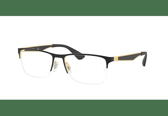 Armazón óptico Ray Ban Metal RX6335 Gold/Black cod. RX6335 2890 54